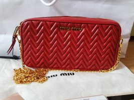 Miu Miu Crossbody Tasche bags Leder Rot neu