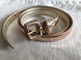 Miu Miu Cintura di pelle color oro rosa Pelle