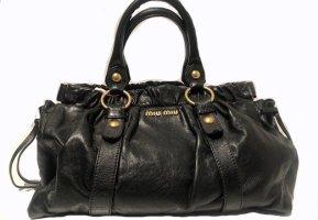 MIU MIU Leder-Handtasche schwarz