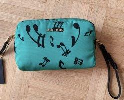 Miu Miu Clutch green-black linen