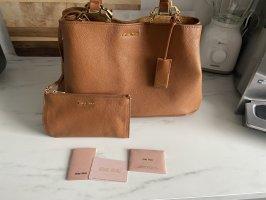 MIU MIU Madras Shopping Bag Cuoio