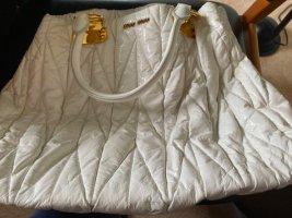 Miu Miu Sac fourre-tout blanc faux cuir