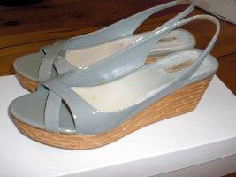 Miu Miu Sandalen 37 Lack Leder grau