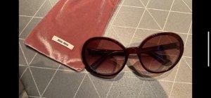 Miu Miu Okrągłe okulary przeciwsłoneczne brązowo-czerwony