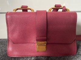Miu Miu Crossbody bag raspberry-red leather
