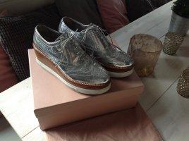 Miu Miu Wedges Budapester Keilabsatz Schuhe