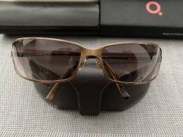 Miu Miu Angular Shaped Sunglasses gold-colored-black