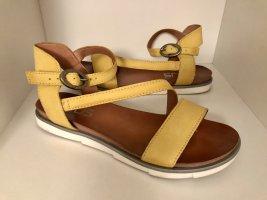 Mjus Sandalo con cinturino giallo Pelle