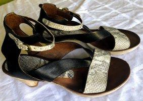 Mjus Sandaletten Slingbacks Gr. 41 Schlangenleder-Muster