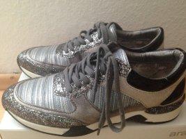 MJUS-Schuhe, stylisch in Grautönen mit Glitzerdetails, Größe 40