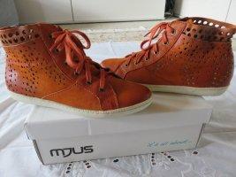 Mjus Sneaker neu in Orange aus Glattleder, Größe 39