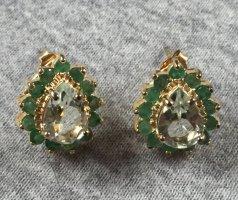HSE 24 Kolczyk ze sztyftem złoto-zielony