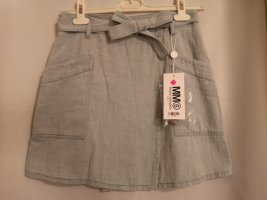 Maison Martin Margiela Wraparound Skirt pale blue denim