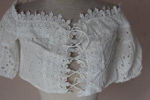 Mochy Paris romantische aufregend schöne Sommer Bluse Baumwollspitze M L