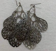 Vintage Pendant d'oreille argenté