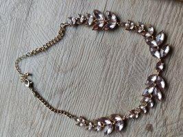 H&M Statement Necklace gold-colored-mauve