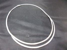 Modern Art Glieder Collier Vintage Kette Silber  Halskette Vintage matt satiniert