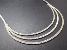 Modern Art Glieder Collier Vintage Silber  835 matt satiniert Kette Halskette Silberkette