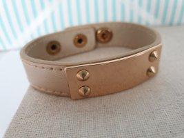 Leather Bracelet beige-bronze-colored