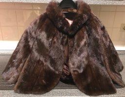 Futrzany płaszcz brązowy Futro