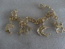 Armbandje met bedels goud