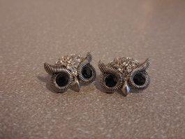 Unbekannte Marke Srebrne kolczyki srebrny-ciemnoniebieski