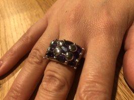 Modeschmuck mit lila Steinen | Innenmaß ca. 16,1 mm