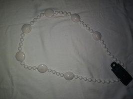 Modeschmuck Perlenkette,Halskette in weiß