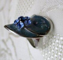Modeschmuck Ring Silberfarben Blau Herz