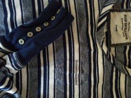 Stripe Shirt dark blue-white