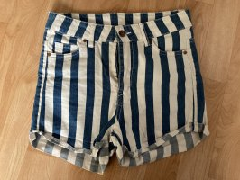 H&M Short en jean blanc-bleu acier