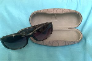 Calvin Klein Oval Sunglasses taupe