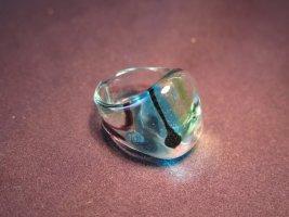 Statement ring azuur-korenblauw