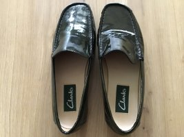 Clarks Moccasins petrol leather