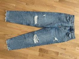 Zara Jeans taille haute bleu azur