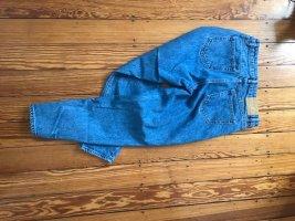 Zara Pantalon fuselé bleu coton
