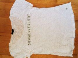 Monari T-Shirt white-khaki