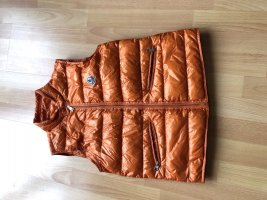 Moncler Down Vest neon orange polyamide