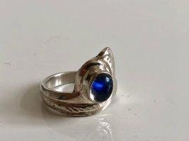 Mondstein Silber Ring 925 Silberring sterling 60er 70er Jahre Modern Art 60s 70s