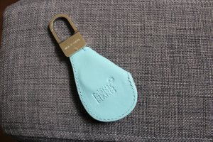 Montblanc Key Chain light blue leather