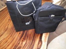 Montblanc Umhängetasche schwarz Stoff/Leder