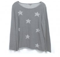 Montego Pullover Gr. XL grau mit Sternen