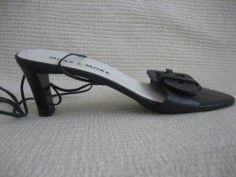 more&more sandalen schwarz leder neu mit macjke gr. 38
