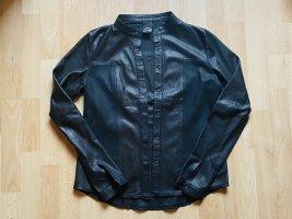 Mos Mosh Leather Shirt black leather
