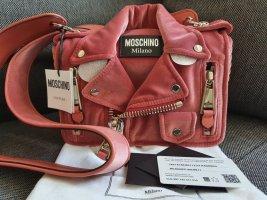 Moschino Biker Bag Crossbody Tasche Umhängetasche Rosa altrosa gold ungetragen