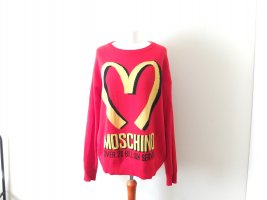 Moschino Couture Pullover Gr. L 38 40 rot fastfood oversized