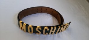 Moschino Leather Belt dark green