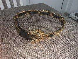 Moschino Ceinture en chaîne noir-doré