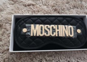 h&m moschino Sleep mask black-gold-colored