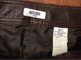 Moschino Jeans Leren broek veelkleurig Leer